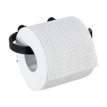 Suport de perete pentru hârtie igienică Wenko Classic Plus, negru de la Wenko