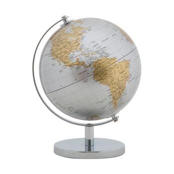 Decorațiune pentru masă Mauro Ferretti Globe, înălțime28cm, argintiu-auriu imagine