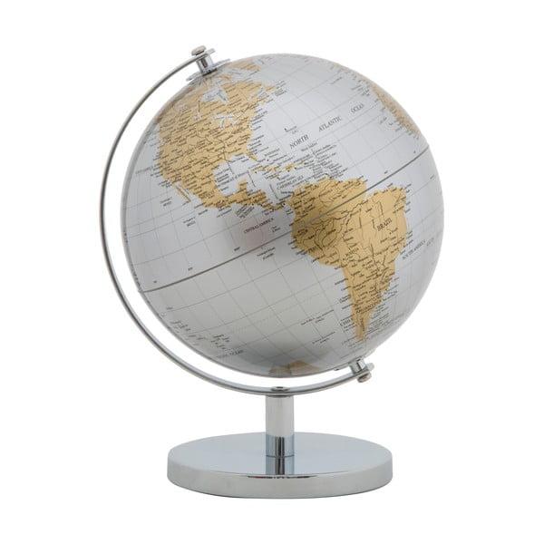 Globe ezüst-aranyszínű asztali dekoráció, magasság 28 cm - Mauro Ferretti
