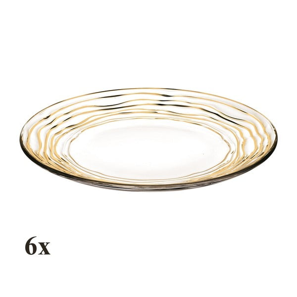 Set šesti talířů Oasi Gold, 28 cm