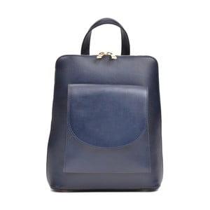 Modrý dámský kožený batoh Anna Luchini Mirago