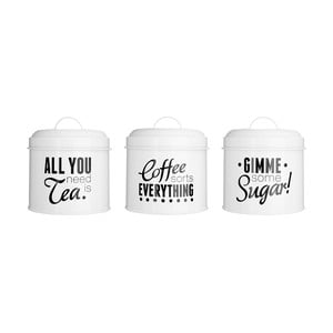 Sada 3 dóz na čaj, kávu a cukr Premier Housewares Pun & Games