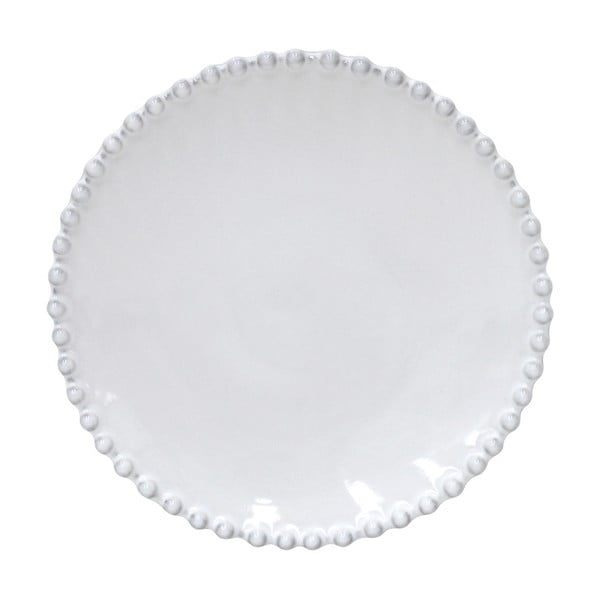 Biely kameninový tanier na pečivo Costa Nova Pearl, ⌀17cm