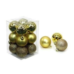 Set 12 decorațiuni de Crăciun Unimasa Navidad, auriu