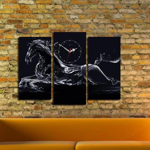 Vícedílný obraz s hodinami Ricardo, 66x45 cm