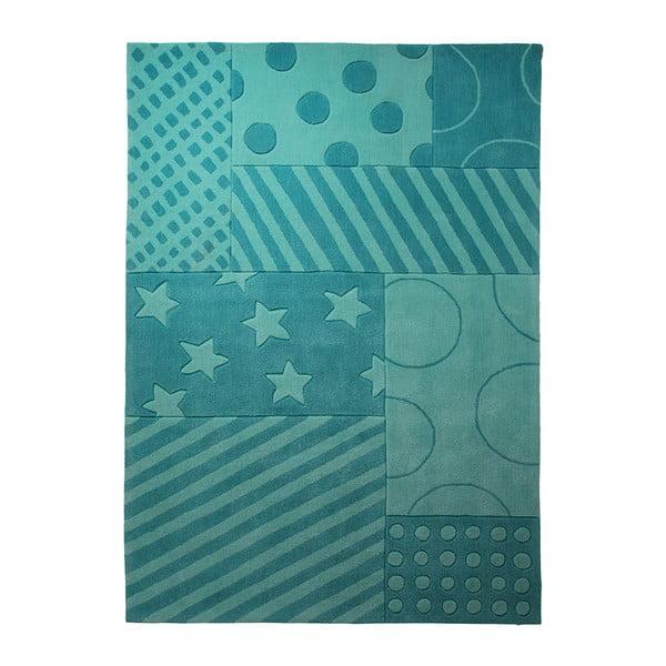 Koberec Esprit Stars Stripes Turquoise, 70x140 cm