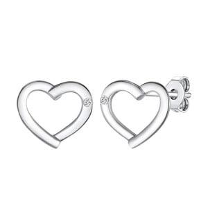 Stříbrné náušnice s pravým diamantem Tess Diamonds Amorette