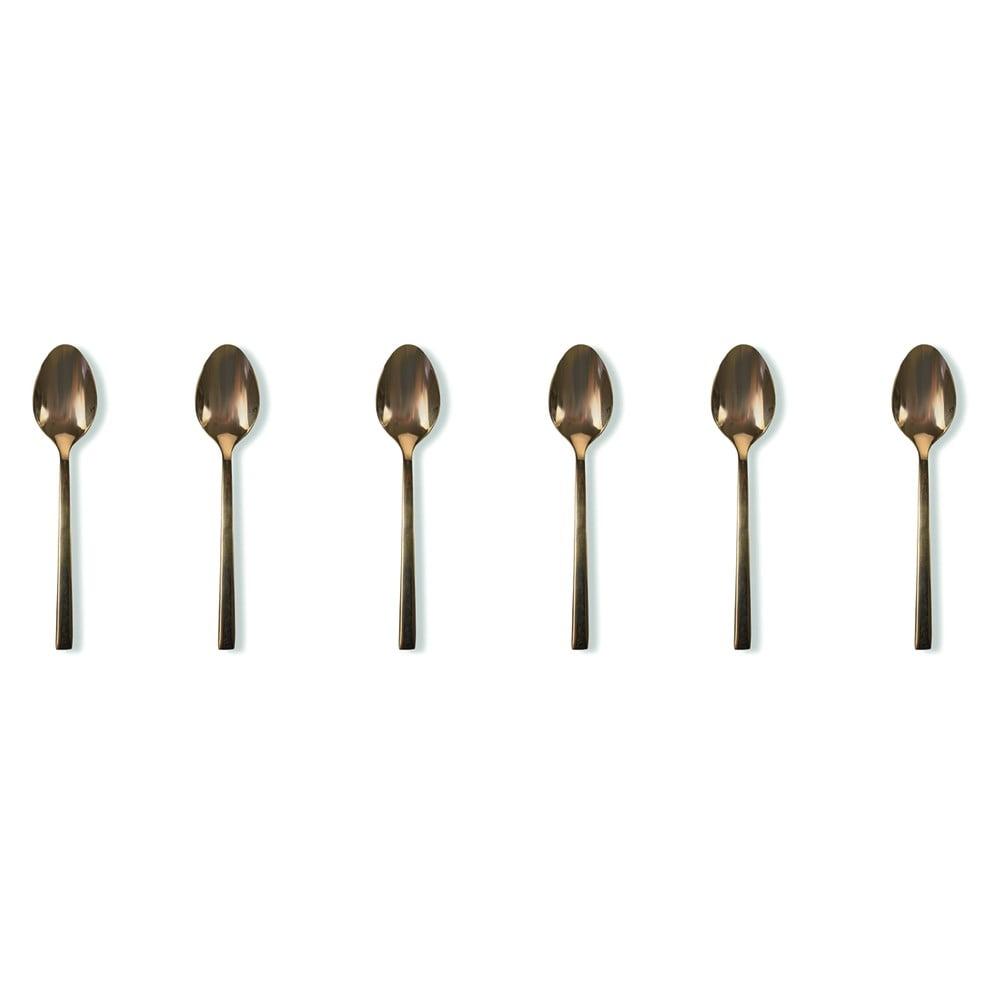 Sada 6 čajových lžiček Villad'Este Lexinghton Copper