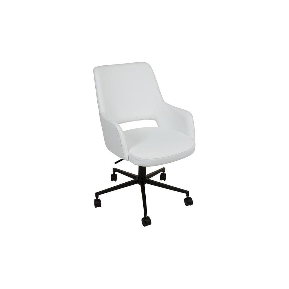 Bílá kancelářská židle s područkami Santiago Pons Avedis