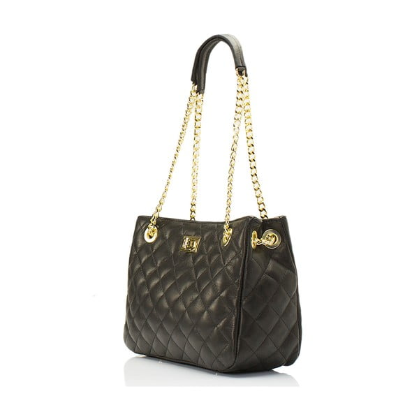 Kožená kabelka Lisa Minardi 7008 Black