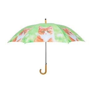 Světle zelený deštník s kočkami Ego Dekor, ⌀ 120 cm