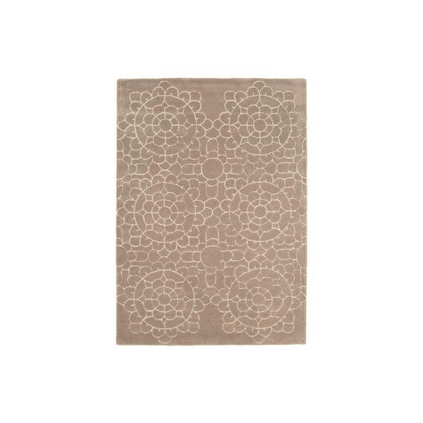Vlněný koberec Crochet Beige 200x300 cm