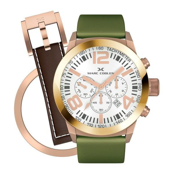 Dámské hodinky Marc Coblen s páskem a kroužkem navíc P90