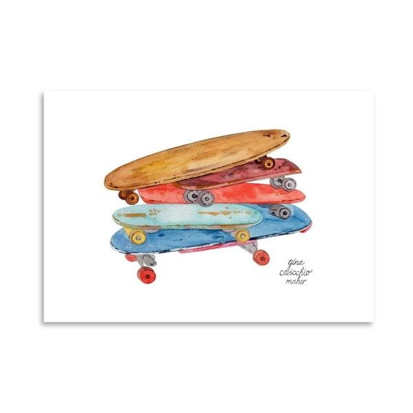 Autorský plakát Skate Boards, 30x42 cm