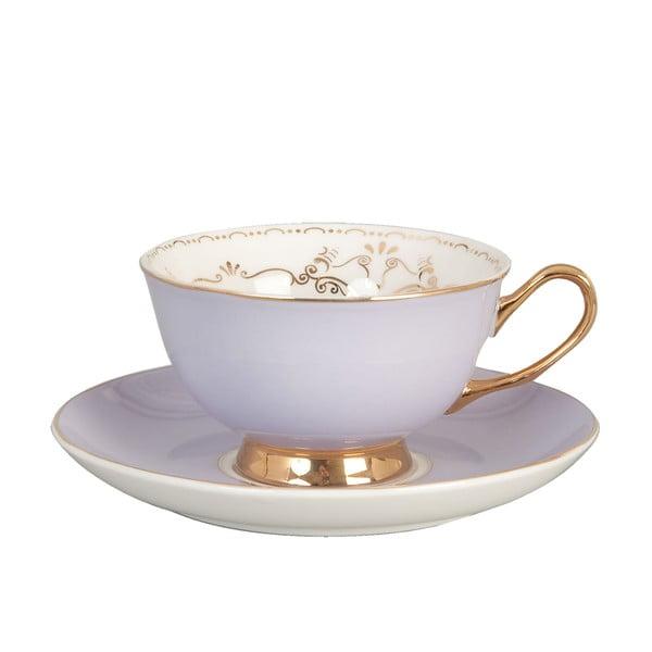 Porcelánový šálek s podšálkem Clayre Lila, 200 ml