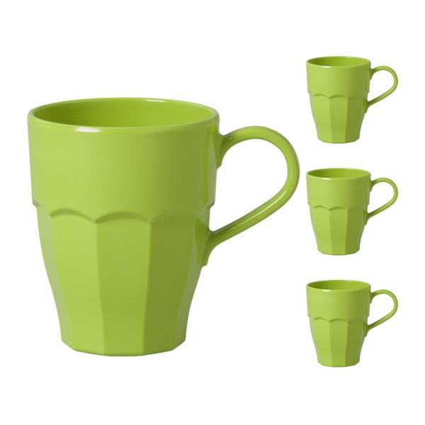 Hrnky s ouškem, green, 3 ks