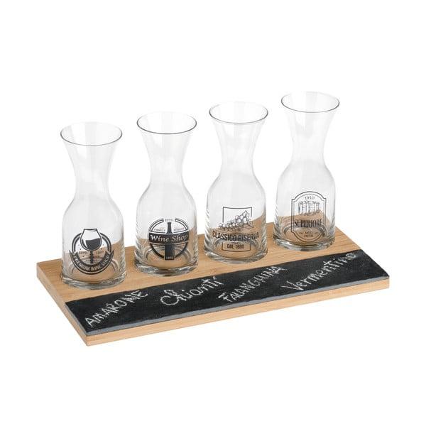 Zestaw 4 małych karafek do degustacji wina Brandani Wine