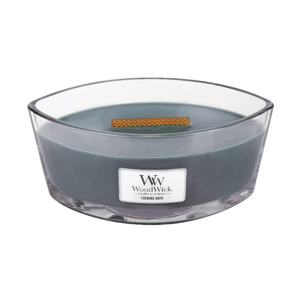 Vonná svíčka WoodWick Večerní onyx, 30 hodin hoření