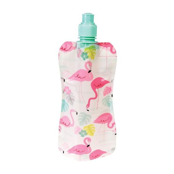 Skládací plastová láhev na vodu Rex London Flamingo Bay, 500 ml