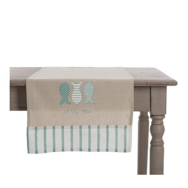 Běhoun na stůl Mer Blue, 140x45 cm