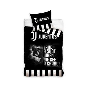 Lenjerie de pat din bumbac pentru copii CARBOTEX Juventus BW III, 160 x 200 cm