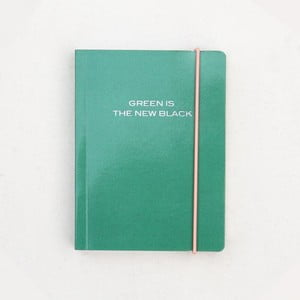 Agendă Caroline Gardner Green is the New Black, 320 file, verde