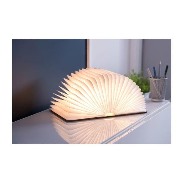 Hnědá LED stolní lampa ve tvaru knihy Gingko Mini