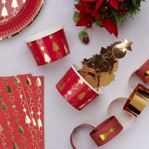 Sada 8 papierových mištičiek Neviti Dazzling Christmas