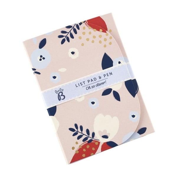 Floral jegyzetfüzet és toll készlet - Busy B
