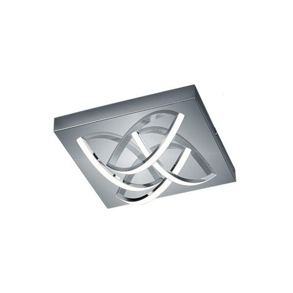 Bílé čtvercové stropní LED svítidlo z kovu a skla Trio Dolly, 30 x 30 cm
