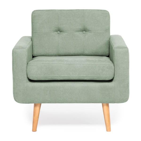 Jasnozielony fotel Vivonita Ina