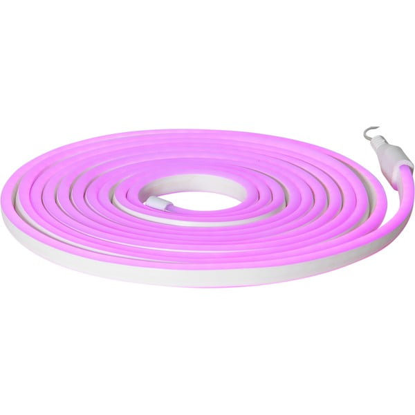Șirag luminos pentru exterior Best Season Rope Light Flatneon, lungime 500 cm, mov