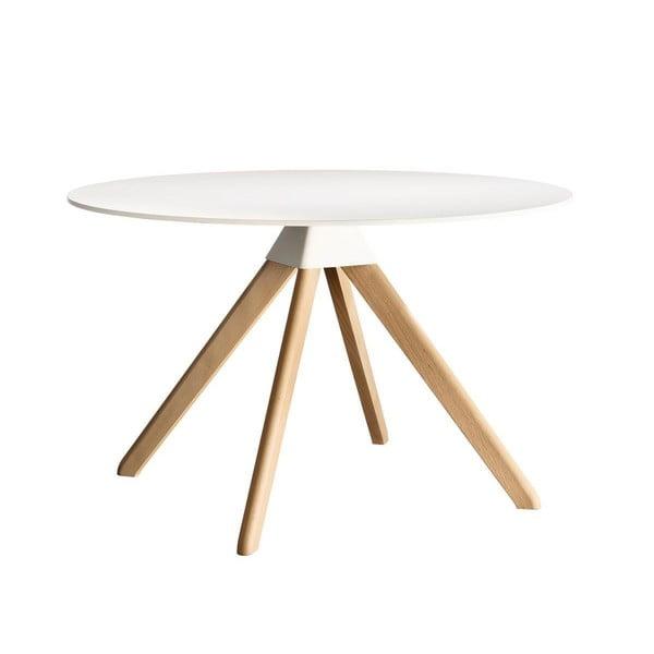 Masă cu picioare din lemn de fag Magis Cuckoo, ø 75 cm, alb