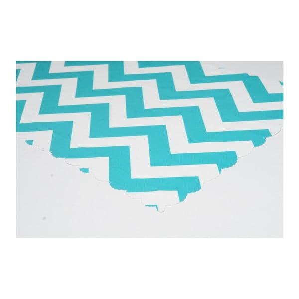 Běhoun na stůl z mikrovlákna Minimalist Cushion Covers Blue Stripes, 45x145cm
