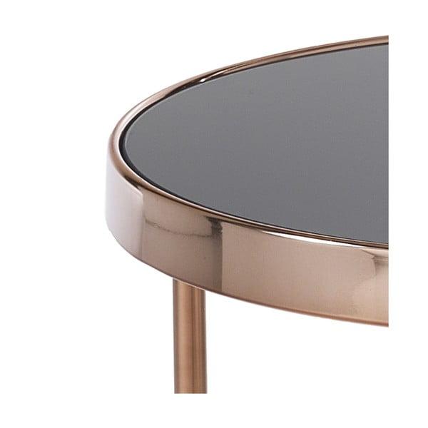 Odkládací stolek v barvě růžového zlata Tomasucci Rings, ø 45cm