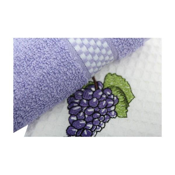 Sada 2 ručníků na ruce Grapes