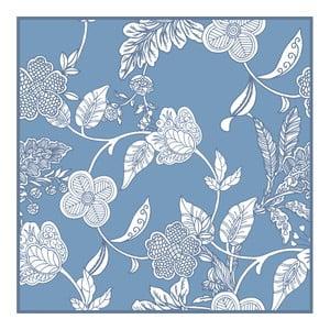 Set 2 prostírání Blue Flowers, 20x20 cm