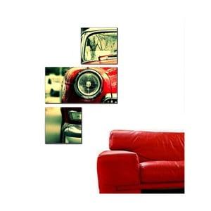 3dílný obraz Asymetric Car, 60x90 cm