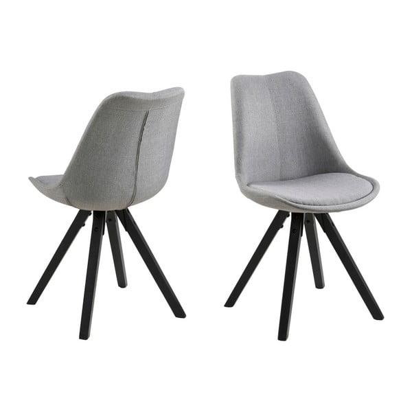 Sada 2 šedých jídelních židlí Actona Dama