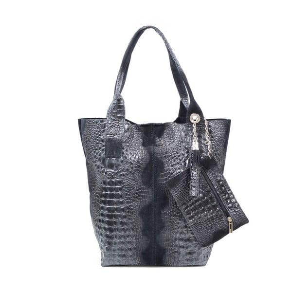 Kožená kabelka Marissa, černá