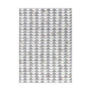 Šedo-bílý koberec Mazzini Sofas Montreal, 133x190cm