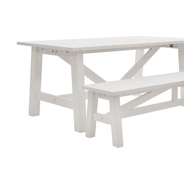 Jídelní stůl Idallia White, 180x90 cm