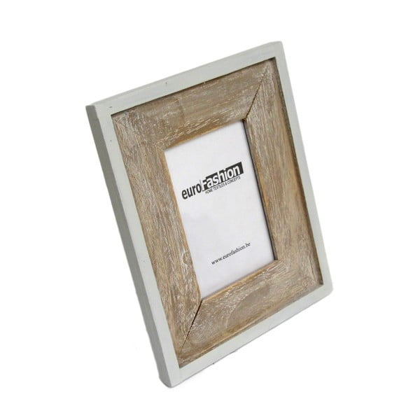 Hnědobílý dřevěný rámeček, vyšší, 2ks