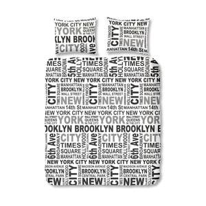 Povlečení New York Grey, 140x200 cm