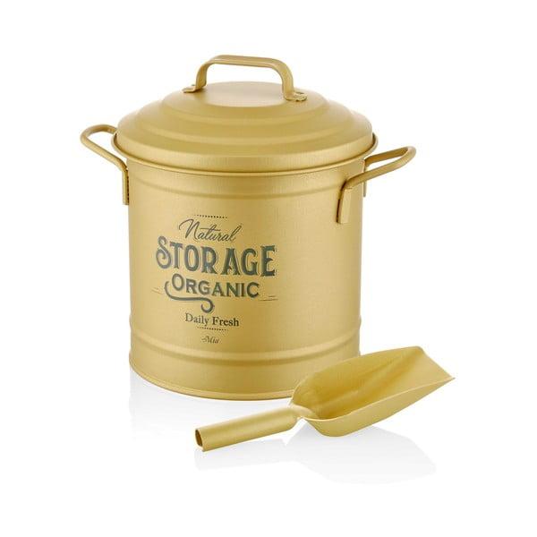 Coș pentru compost The Mia Golden, auriu mat