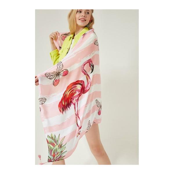 Ružový dámsky dlhý šál Alexander McKensey Flamingo