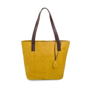 Žlutá kožená kabelka Woox Trogia Lutea