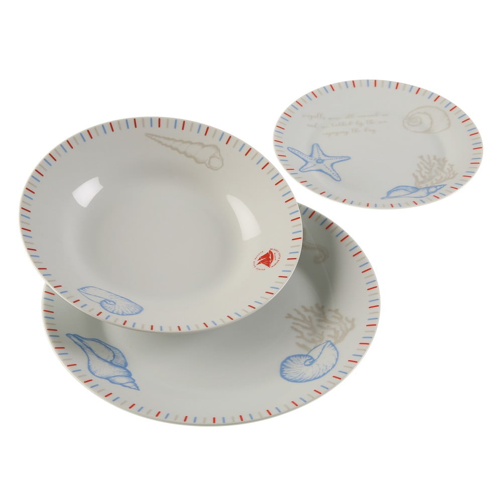 18dílná sada porcelánových talířů Versa Seafom VERSA