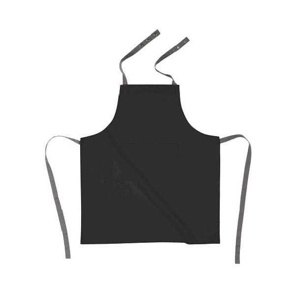Czarny bawełniany fartuch kuchenny Tiseco Home Studio