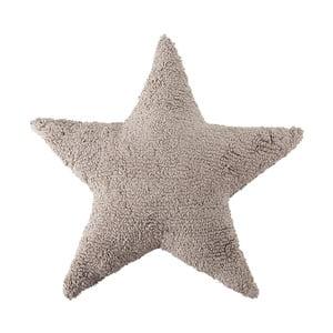 Béžový bavlněný ručně vyráběný polštář Lorena Canals Star, 54x54cm